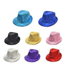 New Brand Sequin Toddler Kids Fedora Panama Hat Boy Girl Party Paillette Cap Hat