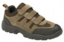 ASCEND Mens Velcro Scuff Cap Padded Outdoor Hiking Trek Trail Shoes Khaki/Brown