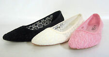 LADIES FLAT CASUAL LACE EFFECT SHOES SPOT ON F80034