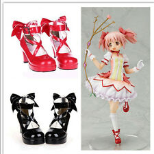 Hot Sales Puella Magi Madoka Magica Madoka Kaname Cosplay High Heel Lolita Shoes