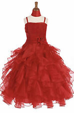 Dressesforgirls Red Flower Girl Christmas Formal Wedding Wedding Dress J3299