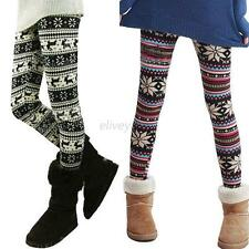 New Fashion Women Soft Knitted Warm Trousers Multi-pattern Leggings Tights Pants