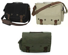 Rothco Vintage Military Trailblazer Canvas Messenger Shoulder Laptop Bag