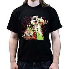 Zombie Calvin and Zombie Hobbes The Walking Dead T-shirt P809