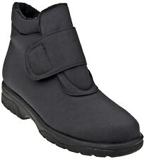 Women's Toe Warmers Active Velcro Black Ankle Casual Winter Boot 9849BLK Sz 6-10