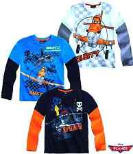 Disney Boys DUSTY PLANES Characters Long Sleeves T.shirt Top 2 3 4 5 6 7 8 YEARS