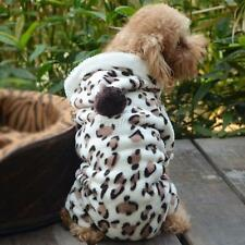 NEW Leopard Pet Puppy Dog Cat Hoodie Coat Outwear Jumpsuit Apparel Clothes S-XXL