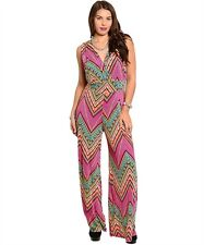 The Plus Size Glam Multicolor Chevron Print Romper