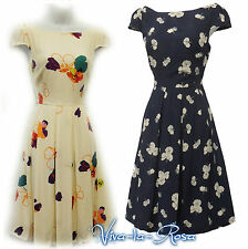 New Rosa Rosa Floral WWII 1930's/40's Vintage style Land Girl Swing Tea Dress