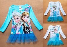 Kids' Elsa Frozen Anna Princess Girls' Cosplay party Clothing Costumes Dresses