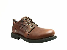 Harley Davidson REID  Mens Motorcycle Work and Casual Brown Leather Shoes