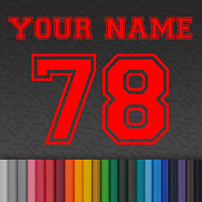 Iron-on Plain Solid SPORT Letters & Numbers Vinyl Fabric T-Shirt Transfer Craft