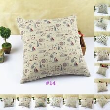 1PC 14 Pattterns Back Cushion Cover Cotton Pillow Case Waist Pillowcase Decor