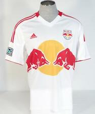 Adidas ClimaCool New York Red Bull White Short Sleeve Soccer Jersey Mens NWT