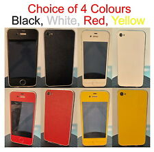 iPhone 4S - Coloured Matte Carbon Fiber Full Body Skin sticker