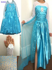 Kids Girls Dresses Disney Elsa Frozen dress costume Princess  party dresses