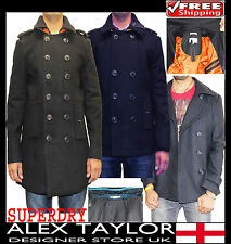 SUPERDRY BRIDGE & SLIM PEA COAT(100%Authentic)JACKET/HOOD/WINDCHEATER/OVERSHIRT