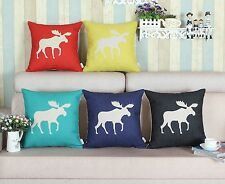 """18"""" X 18"""" Shadow Ecru Moose Solid Ground Cushion Covers Pillows Shell Home Decor"""