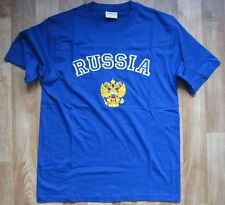 Embroidered t-shirt Russia Double Eagle Россия S, M, L, XL, 2XL blue