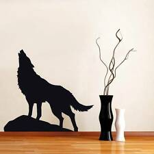 WOLF Decal Animal WALL STICKER Silhouette Home Decor Art ALL SIZES & COLORS ST84