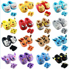 Adventure Time Pikachu Totoro FAIRY TAIL Sailor Moon Iron Man plush toy Slippers