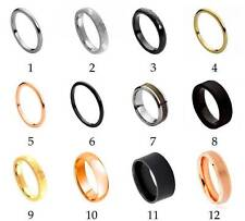 Men's Tungsten Carbide Wedding Ring Classic Comfort Fit Band New Fashion Jewelry