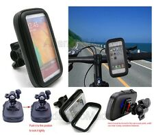 Motorcycle Bike Mount Holder Waterproof Handle Bar Case Pouch Bag For Cell Phone