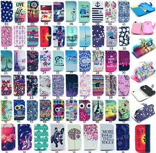 Fashion Style Flip Wallet Printed PU Leather Stand Case Cover For Samsung S7560M