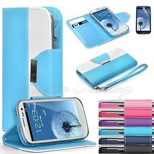 Luxury Flip PU Leather Wallet Cover Stand Case For Samsung Galaxy S3 SIII i9300