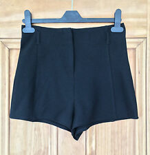 Ex Chainstore New High Waisted Black Shorts Size 8  Bnwot
