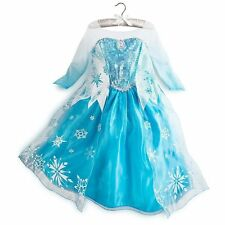 Kids Girls Dresses Disney Anna Frozen dress costume Princess Elsa party dresses