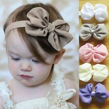 10pcs Kids Baby Girls Toddler Chiffon Bowknot Headband Hair Band Accessories