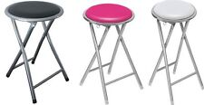SOFT PADDED ROUND FOLDING STOOL SEAT FOLDABLE CHAIR KITCHEN LOUNGE STOOLS