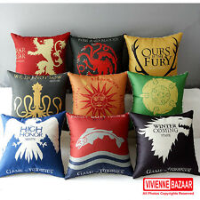 Song of Ice and Fire Game of Thrones  Badge Pattern cushion Cover  17""