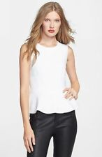 $274 JOIE  JOURDINE 100% wool white top