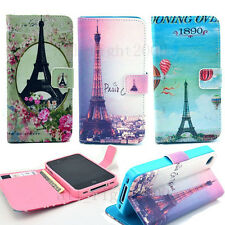 Romantic Paris Eiffel & Our Love Story Flip Leather Case for Apple Samsung Phone