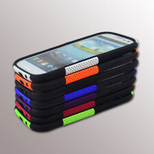 Protective Hybrid Hard Mesh Case Silicone Cover For Samsung Galaxy S3 i9300