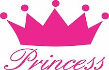 "Princess Crown Sticker,  Multiple Colors Available 7"" Wide"