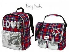 JUSTICE Girls Tartan Plaid Backpack OR Messenger Bag, NEW