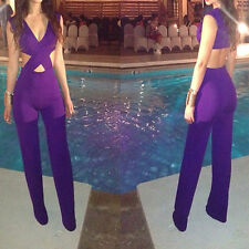Women Sexy back Cut Of Clubwear Jumpsuits Rompers Bodysuit Dress Outfits