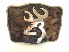 CAMO SQUARE BUCK HUNTER DEER HUNTING BOW BELT BUCKLE BROWNING