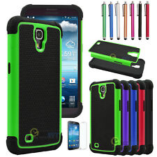 Hybrid Rugged Impact Rubber Hard Case Cover For Samsung Galaxy Mega 6.3 Holster