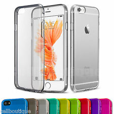 Soft Silicone Gel Back Case Cover Screen Protector for iPhone 5C 6s