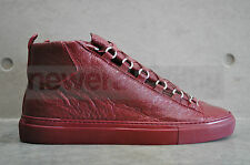 Balenciaga 'Arena' High Top Sneakers - Burgundy