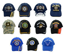 New US ARMY, NAVY,MARINE, AIR FORCE Military Official Licensed Baseball Cap