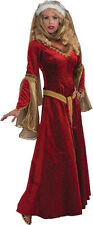 Medieval Renaissance Fancy Dress Gown Garb Larp Period Costume Queen Party Veil