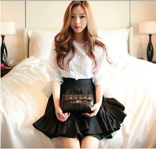 Women's Fashion Cute Casual Party Dress Big Pendulum Falbala Suit Short Skirt