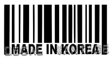 Made In Korea Barcode Vinyl Sticker Decal Seoul - Choose Size & Color