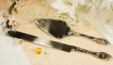Wedding Knife and Wedding Cake Server Set Heart Personalized Engraved Available