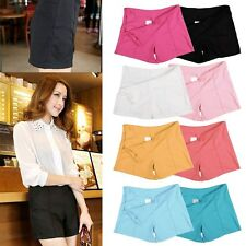 Hot Womens Ladies High Waist Summer Casual Shorts Short Pants 8 Colors 4 Size